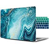Dongke for MacBook Air 11 Inch Case, Hard Case Shell Cover with Keyboard Cover & Screen Protector for MacBook Air 11 A1370 A1465 - Abstract Ocean