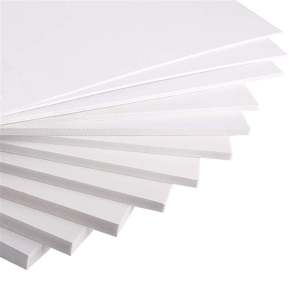 Expanded PVC Foam Board Sheet (5 Pieces) 20cm×30cm 30cm×40cm Thickness 2-18mm Smooth Finish White For Craft Model Displays Signage Screen Printing Cosplay Ninepm