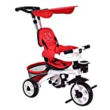 old baby stroller - Costzon 4-In-1 Baby Tricycle Steer Stroller Detachable Learning Bike w/ Canopy Basket (Red)