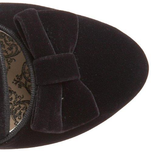 Bordello Women's Whimsey-115 Boots, Black Black (Blk Velvet)