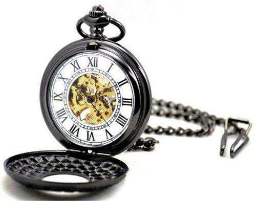 Roman Dual Display Vintage Fashion Glass A Mechanical Pocket Watch