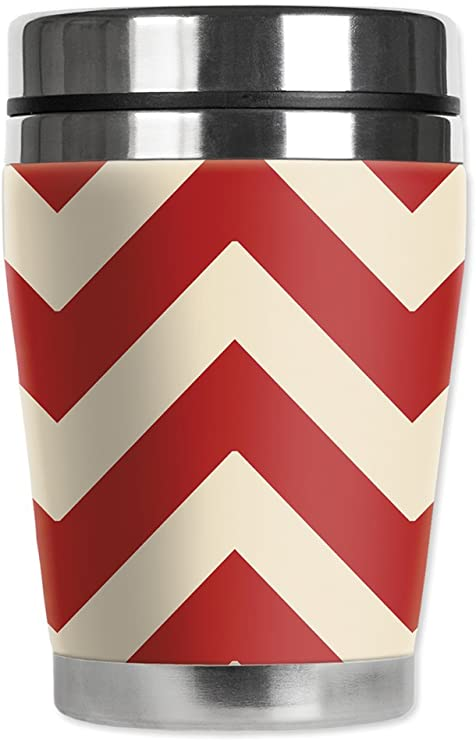 12 oz Mugzie Might be yMini Travel Mug with Insulated Wetsuit Cover Black
