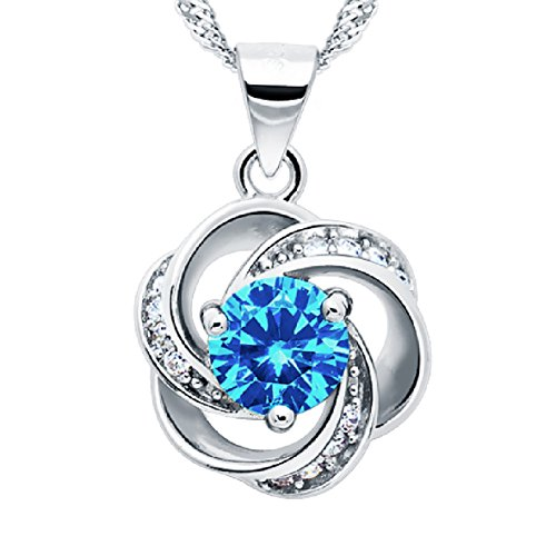 Shall-I-Compare-Thee-to-A-Summers-Day-Azure-Sterling-Silver-Flower-Pendant-Necklace