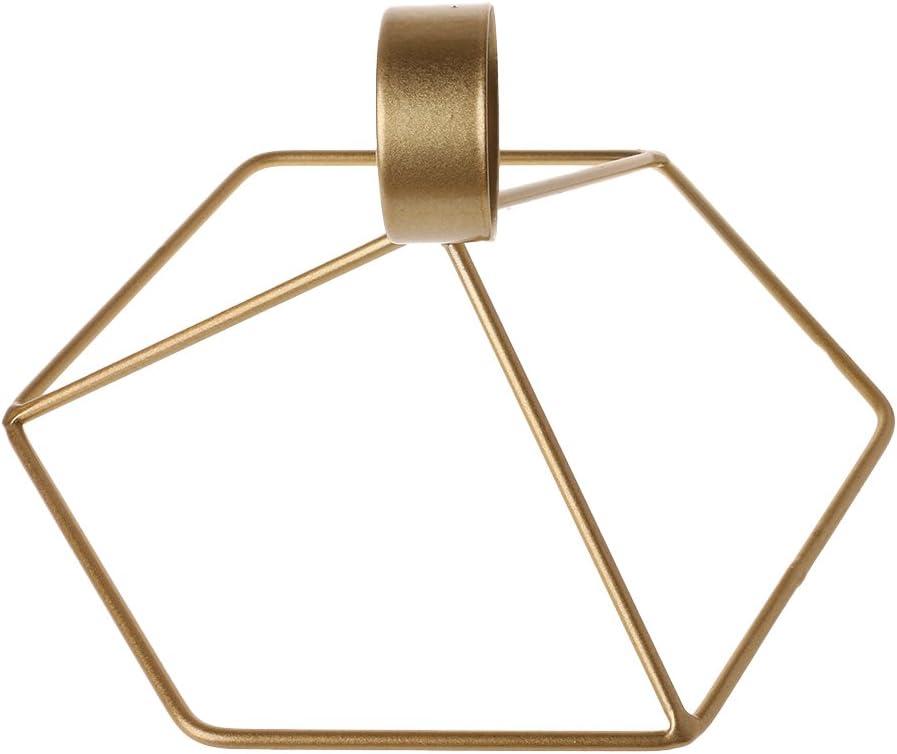 Ferro App.21cmx15cm//8.27inx5.91in Gold Lagand Nordic Style 3D Geometrico da Parete in Metallo candeliere portacandela Home Decor