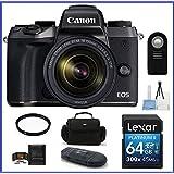 Canon EOS M5 Mirrorless Digital Camera with 18-150mm Lens 64GB PRO Bundle