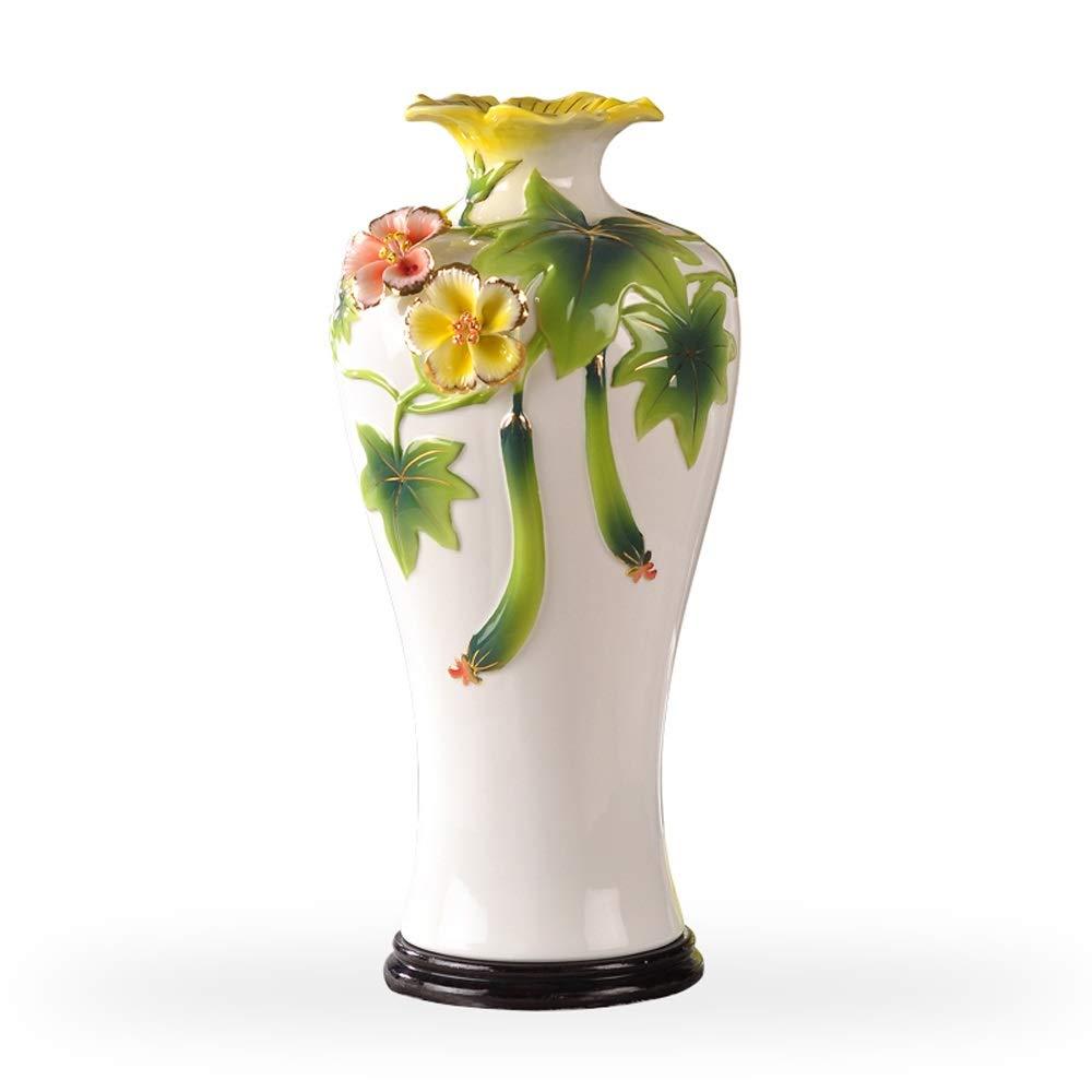 セラミック花瓶用花緑植物結婚式の植木鉢装飾ホームオフィスデスク花瓶花バスケットフロア花瓶 B07RJFWW4L