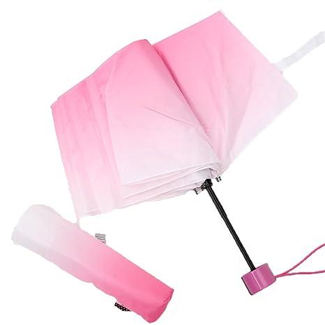 LybCvad Paraguas Paraguas de Colores Sombrillas de Colores del Arco Iris Sombrillas de Paraguas para el