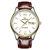 AILANG AL6805G Classic Fashion Casual Business Genuine Leather Automatic Mechanical Men's Watch