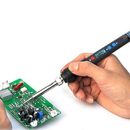 Electrical Soldering Tools Solder Stations - PX-988 90W Backlight Digital Thermostat Adjustable Lead Free Electric Soldering Iron Mini Soldering Station EU/US Plug 220V/110V (230V AU Plug)