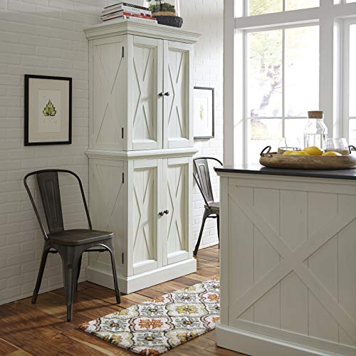 Home Styles 5523-69 Seaside Lodge Kitchen Pantry, Hand Rubbed Weathered White