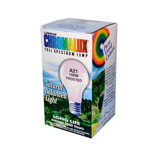 New - Chromalux Light Bulb Frosted-100W - 1 Bulb (Natural Spectrum Lightbulbs compare prices)