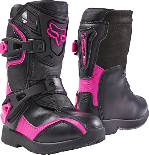 2018 Fox Racing Kids Comp 5K Boots-Black/Pink-K13 by Fox Racing