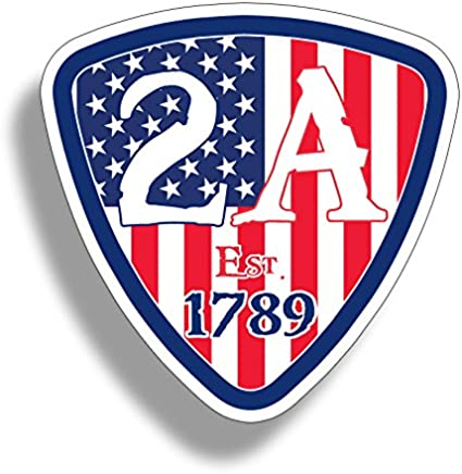USA American 2nd Amendment Sticker Car Window Bumper Decal Cup Cooler Gun Flag