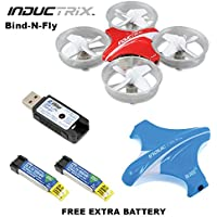 Blade BLH8780 Inductrix BNF Micro Quadcopter Drone + (1) Extra OEM Battery Bundle
