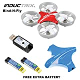 Blade BLH8780 Inductrix BNF Micro Quadcopter Drone + (1) Extra OEM Battery Bundle For Sale
