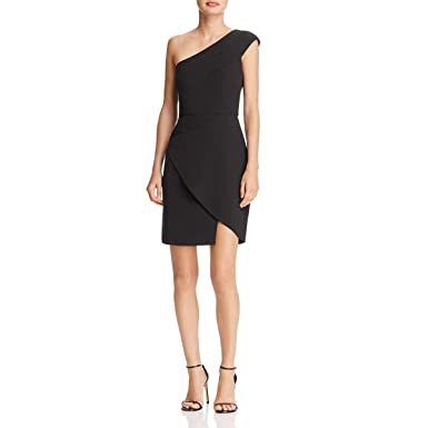 d5686f5cacf Amazon.com  BCBG Max Azria Womens Aryanna One-Shoulder Mini Cocktail ...
