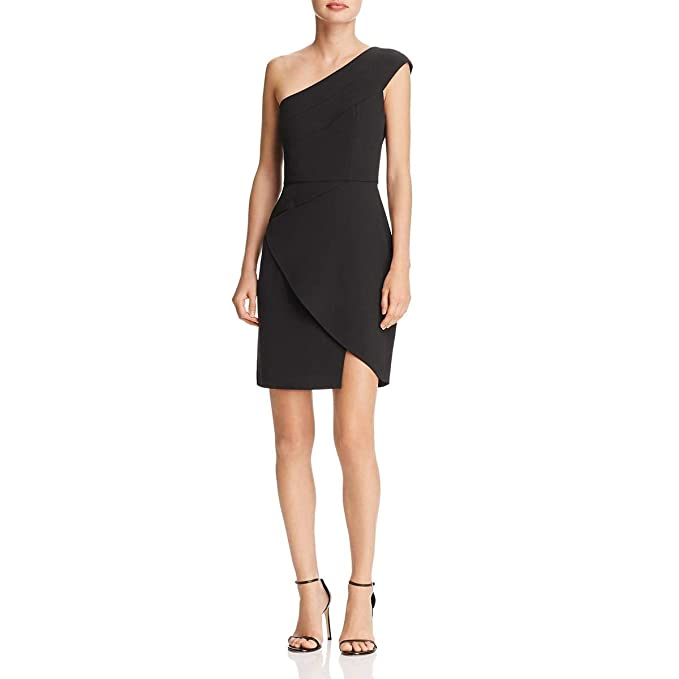 d9680ee827a Image Unavailable. Image not available for. Color  BCBG Max Azria Womens Aryanna  One-Shoulder Mini Cocktail Dress ...