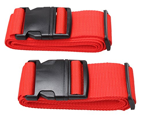 Price comparison product image Luggage Strap Suitcase Belt Travel Accessories 2Pack L18A (2Red)