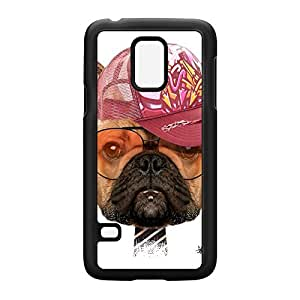 Dog with Cap 01 Black Hard Plastic Case for Samsung? Galaxy S5 Mini by Gangtoyz + FREE Crystal Clear Screen Protector