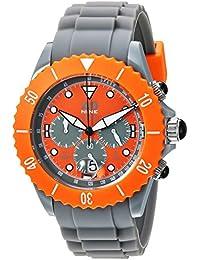 Men's 'Chrono Sport' Quartz Plastic and Silicone Casual Watch, Color:Grey (Model: 40NINECHR4.1)