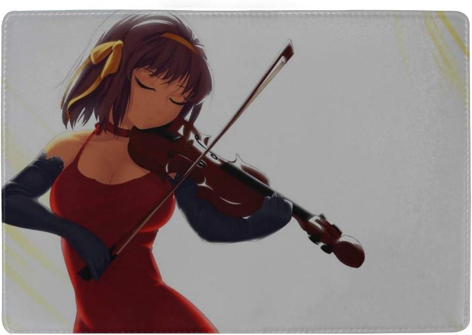 Arantheus Suzumiya Haruhi No Yuutsu Suzumiya Haruhi Violin Dress Leather Passport Holder Cover Case Travel One Pocket