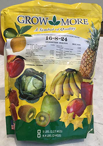 Banana Fertilizer - Fruit Fuel - 16-8-24 - Grow more - 5 lbs (Best Fertilizer For Banana Plants)