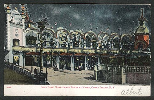 Restaurant Boxes Coney Island postcard 1906