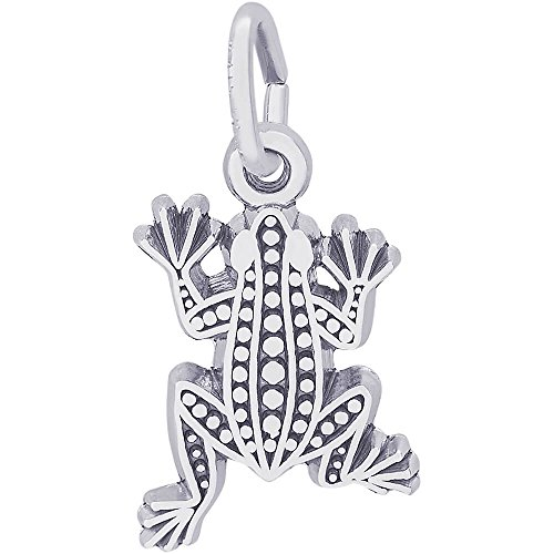 Rembrandt Charms Frog Charm, 14K White Gold