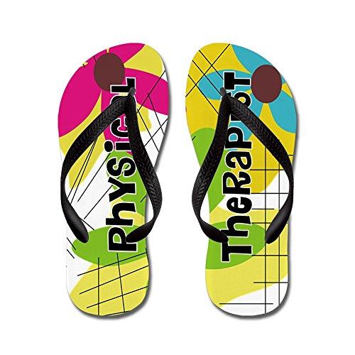 Cafepress Fysiotherapeut 1 - Flip Flops, Grappige Leren Sandalen, Strand Sandalen Zwart