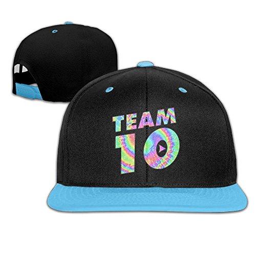 Team10 Tie Dye Jake Paul Children Youth Adjustable Baseball Cap Hip-Hop Cap