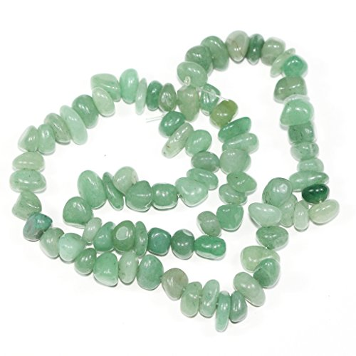 AAA Natural Green Aventurine Gemstones Round Chips Beads Free-form Loose Beads ~10x8mm beads ( ~16