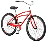 Schwinn Men's Stockton Cruiser 29″ Wheels, Red, 18″/Medium For Sale