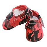 Newborn Baby Camouflage Tassel Soft Sole PU Prewalker Shoes Anti-slip Toddler Shoes