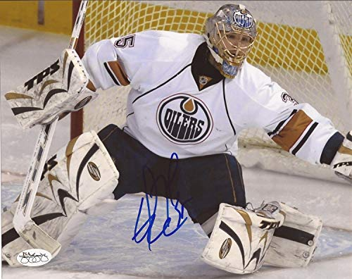 Dwayne Roloson Autographed Signed Edmonton Oilers 8x10 Photo JSA Authentic -
