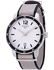 Tissot Men's 'Quickster' Quartz Stainless Steel and Nylon Casual Watch, Color:Silver-Toned (Model: T0954101703700)