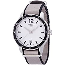 Tissot Men's ' Quickster Quartz Stainless Steel and Nylon Casual Watch, Color:Silver-Toned (Model: T0954101703700