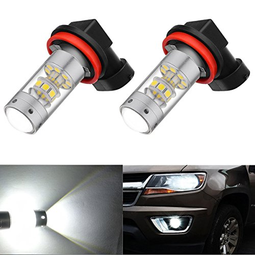 Price comparison product image AHEVO High Power 3000 Lumens 28-SMD Super Extremely Bright 6000K White H11LL H8LL H11 H8 H16 LED Bulbs for Fog Light Lamps Replacement (H11, H8 ,H16 TYPE2 JP)