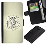 UPPERHAND ( Not For HTC ONE Mini 2) Stylish Image Picture Black Leather Bags Cover Flip Wallet Credit Card Slots TPU Holder Case For HTC One M8 - friend keep god cross beige text