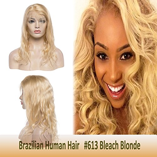 (16 Inch Blonde Human Hair Wigs Lace Front Body Wave with Baby Hair for Black Women Swiss Frontal Lace Pre-plucked Long Brazilian Hair)