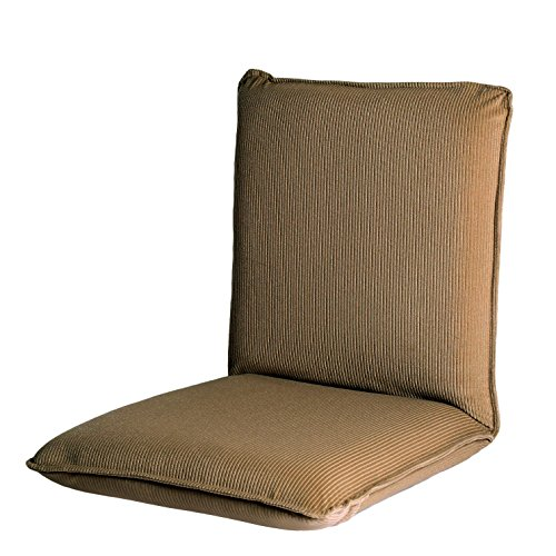 Ollypulse Indoor Thick Padded Five Position Multiangle Floor Chair with Adjustable Back, Tan