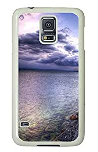 Brian114 Samsung Galaxy S5 Case, S5 Case - Full Body Protective Case for Galaxy S5 Scenery 8 Hard Plastic Covers for Samsung Galaxy S5 White