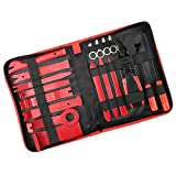 Volador Auto Trim Removal Tool Kit, 18 PCs Car Interior Upholstery Pry Tool Set for Dashboard Panel Door Audio -11 Nylon Trim Set, Clip Removal Pliers, 2 Fastener Removers and 4 Car Audio Removal Keys