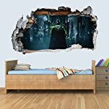 GNG DC Batman Vinyl Smashed Wall Art Decal Stickers Bedroom Boys Girls 3D M