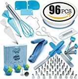 Cake Decorating Supplies Set 96 Pcs by Pepe Nero–Icing Tips, Rotating Turntable, Measuring Spoons, Icing Tools& Others For Birthdays, Cookies, Baking,Frosting, Pastry, Cupcakes, Weddings & more