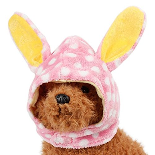 [FAPIZI Pet Dog Costume Lovely Hat Puppy Teddy Winter Warm Cap (S)] (Cheap Pet Cat Costumes)