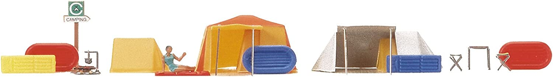 Busch-6026 H0 Motiv-Set Ein kleiner Campingplatz