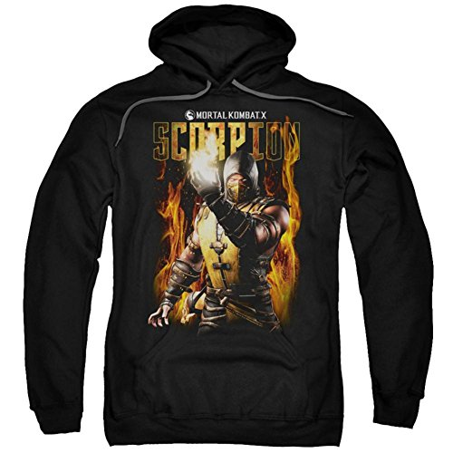 Hoodie: Mortal Kombat- Scorpion Calling Fire Pullover Hoodie Size S for $<!--$32.01-->