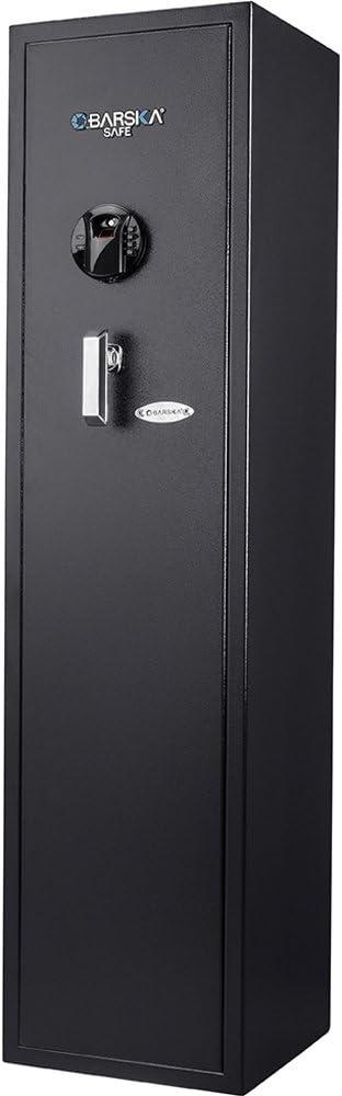 Barska AX12752 Large Keypad Biometric 11 Position Rifle Safe, Standard, Black