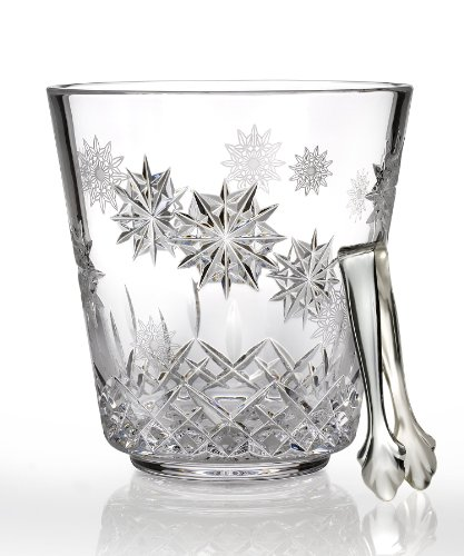 - Waterford Crystal 156045 Lismore Snowflake Ice Bucket with Tongs