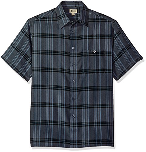 haggar-mens-short-sleeve-microfiber-woven-shirt-coal-marl-large